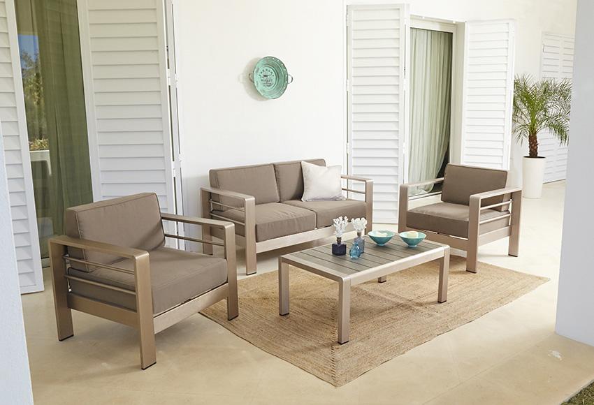 Mobiliario de jard n leroy merlin para casas en venta for Sofa exterior leroy