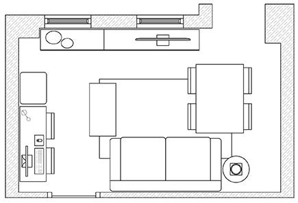 Cómo amueblar un salón-comedor-estudio en 15m², ¿es realmente posible?