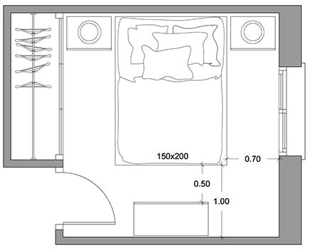 Medidas que te salvar n la vida a la hora de distribuir tu for Cuanto mide una cama queen size